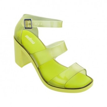 MODEL yellow middle open sandals for woman