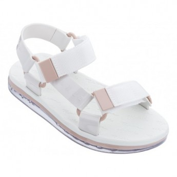 PAPETE + RIDER white flat open sandals for woman