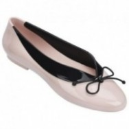 JUST DANCE black and pink flat closed ballet flats for woman