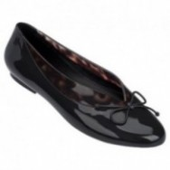 JUST DANCE black and brown flat closed ballet flats for woman