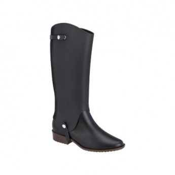 RIDING SPECIAL black and brown with heel closed boots for woman