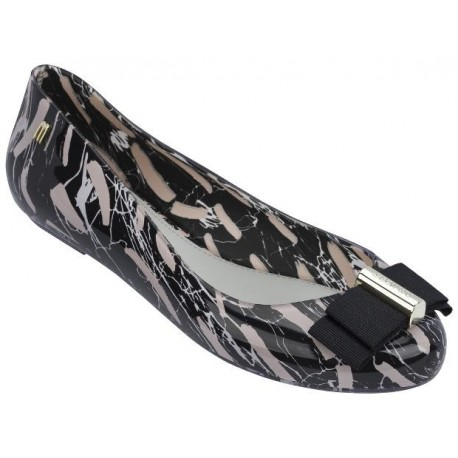 SPACE LOVE + JASON WU II black and pink fantasy print flat closed ballet flats for woman