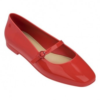 BELIEVE red flat closed ballet flats for woman
