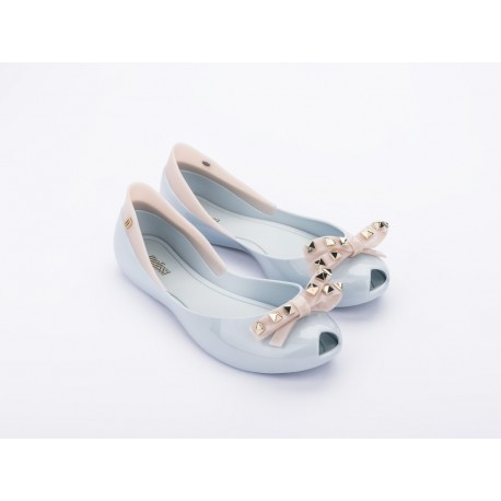 QUEEN VII blue flat closed ballet flats for woman