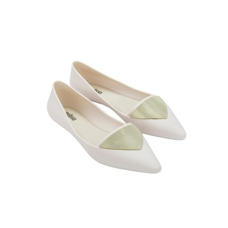 POINTY IV beige flat closed ballet flats for woman