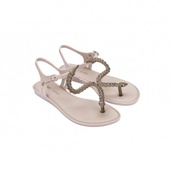 SOLAR + BOBO pink flat open sandals for woman