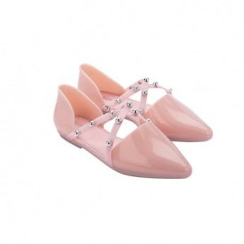 POINTY STRIPE pink flat ballet flats for woman