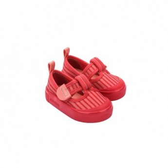 BASIC PRINT red flat sandals for baby