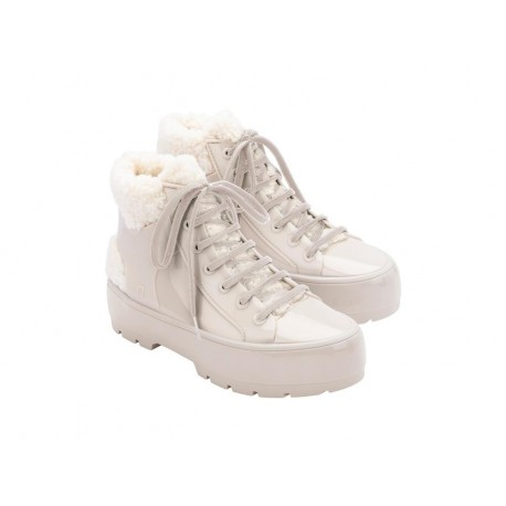 FLUFFY SNEAKER beige flat closed boots for woman