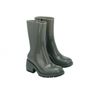 NANCY BOOT green with heel closed boots for woman