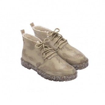 FLUFFY BOOT beige flat closed boots for woman