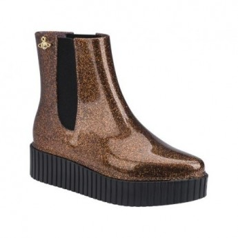 CHELSEA BOOT vivienne westwood black and brown platforms closed boots for woman