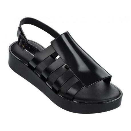 BOEMIA PLATFORM black platforms shovel sandals for woman