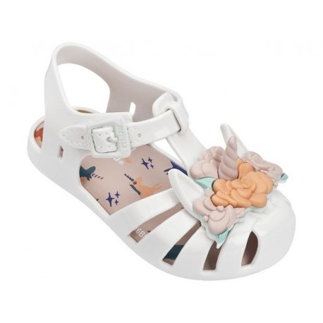 ARANHA + FABULA white flat crab sandals for baby