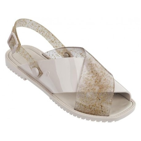 SAUCE beige flat open sandals for woman