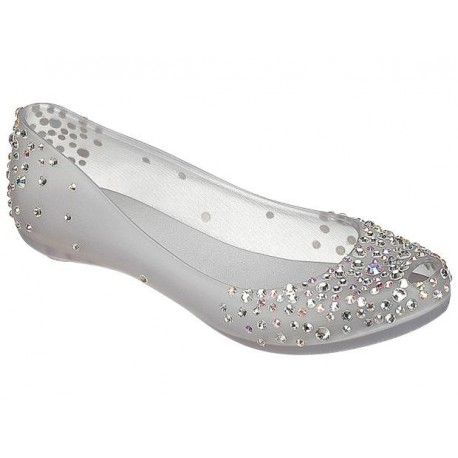 ULTRAGIRL j.maskrey transparent fantasy print flat closed ballet flats for woman